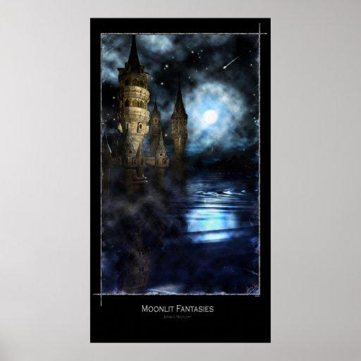 Fantasías iluminadas por la luna póster