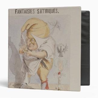 """Fantasías satíricas, caricatura de Adolfo Carpeta 1 1/2"""""""