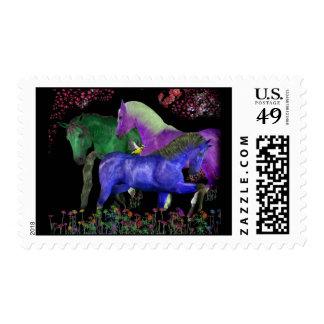 Fantasical coloreó el diseño del caballo, parte sello