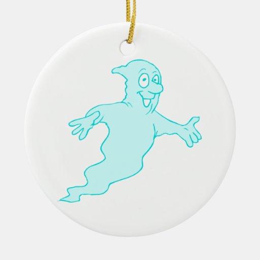 Fantasma Adorno Navideño Redondo De Cerámica