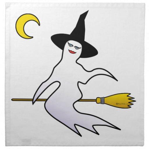 Fantasma-Bruja del feliz Halloween Servilletas De Papel
