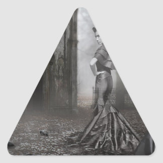 Fantasma de Anixias de la hermana gemela Pegatina Triangular