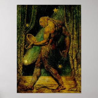 Fantasma de Blake de una bella arte de la pulga Póster