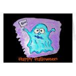 Fantasma de Halloween de la tarjeta de Halloween