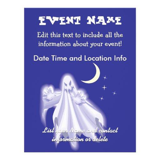 """Fantasma de Halloween Folleto 8.5"""" X 11"""""""