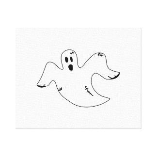 Fantasma de Halloween Lona Envuelta Para Galerias