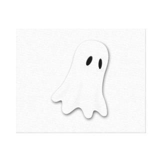 Fantasma de Halloween Lona Estirada Galerias