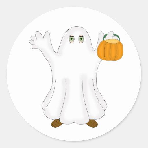 Fantasma de Halloween Pegatinas Redondas