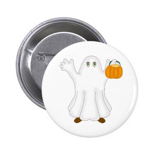 Fantasma de Halloween Pin Redondo 5 Cm