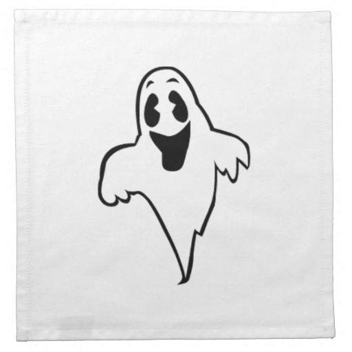 Fantasma de Halloween Servilletas Imprimidas