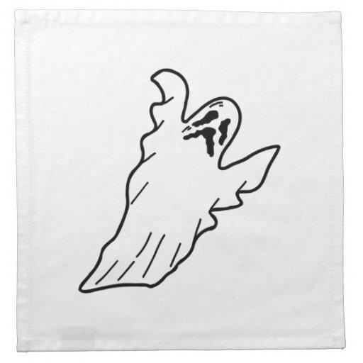 Fantasma de Halloween Servilleta