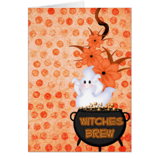 Fantasma de Halloween Tarjetón