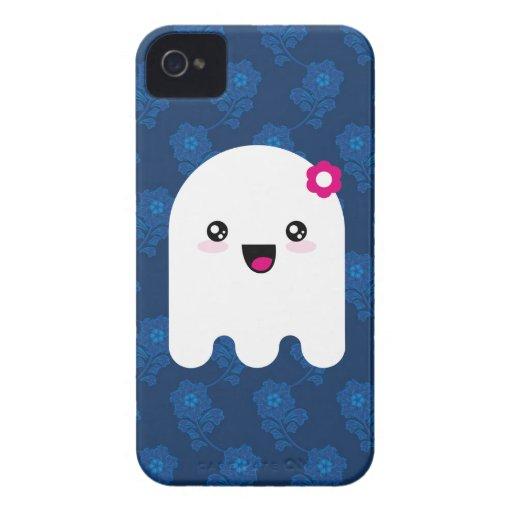 Fantasma de Kawaii Case-Mate iPhone 4 Protectores