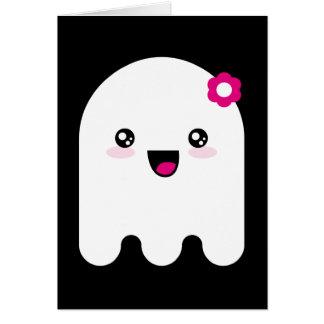 Fantasma de Kawaii Felicitación