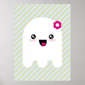 Fantasma de Kawaii Póster