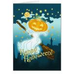 Fantasma de la calabaza de Halloween del vintage Tarjetas