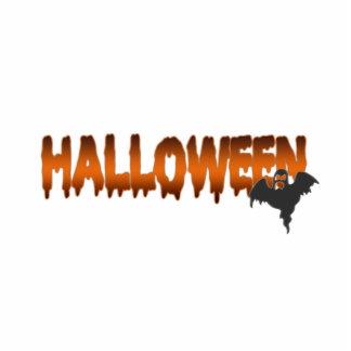 Fantasma de las letras de Halloween Fotoescultura Vertical