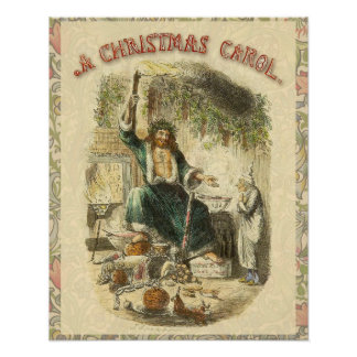Fantasma de Scrooge del Victorian del regalo de Póster