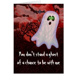 Fantasma de una ocasión tarjeta de felicitación