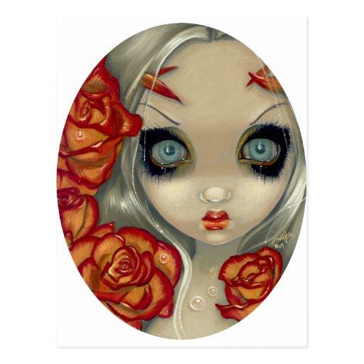 """""""Fantasma"""" de una postal color de rosa"""