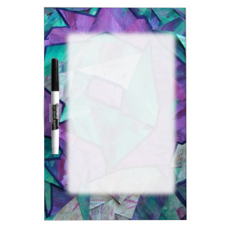Fantasma del bosque - púrpura del verde del collag pizarras blancas