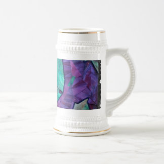Fantasma del bosque - púrpura del verde del collag taza