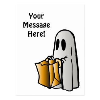 Fantasma del caramelo del truco o de la invitación postal
