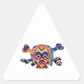 Fantasma del cráneo n: Mascota del africano de Calcomania Trianguladas Personalizadas