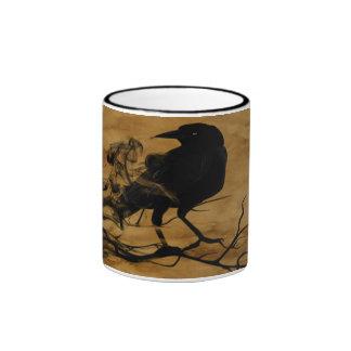 Fantasma del cuervo taza de dos colores
