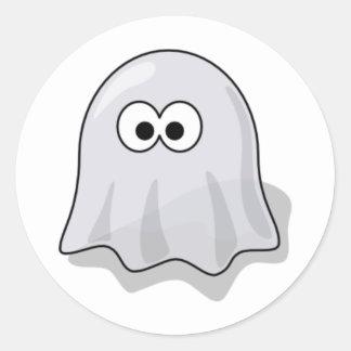 Fantasma del dibujo animado pegatina redonda