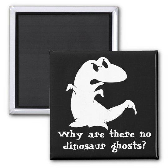 Fantasma del dinosaurio imán cuadrado