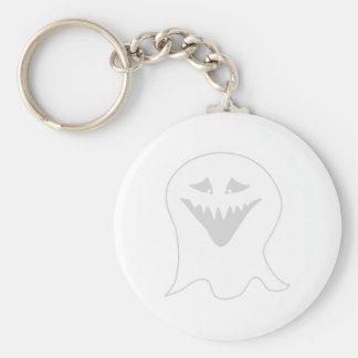 Fantasma del espíritu necrófago. Gris y blanco Llavero Redondo Tipo Pin