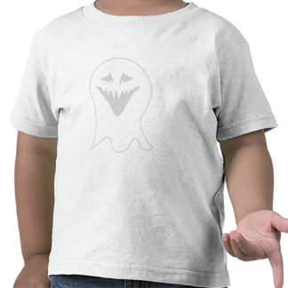 Fantasma del espíritu necrófago Gris y blanco Camisetas