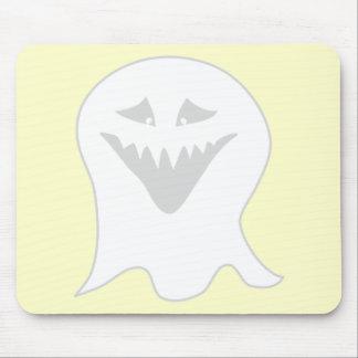 Fantasma del espíritu necrófago. Gris y blanco Alfombrillas De Raton