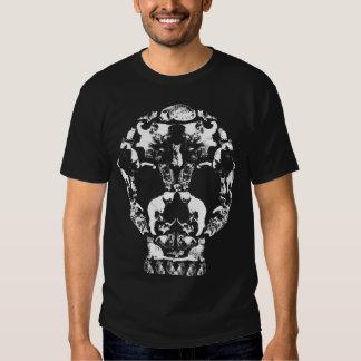 Fantasma del gatito de la muerte del cráneo del polera