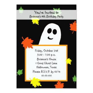 Fantasma del otoño de la invitación de la fiesta