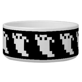 Fantasma del pixel de 8 pedazos tazones para perro