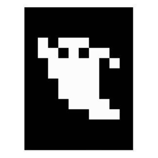Fantasma del pixel de 8 pedazos postal
