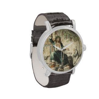 Fantasma del regalo de Navidad Relojes De Pulsera