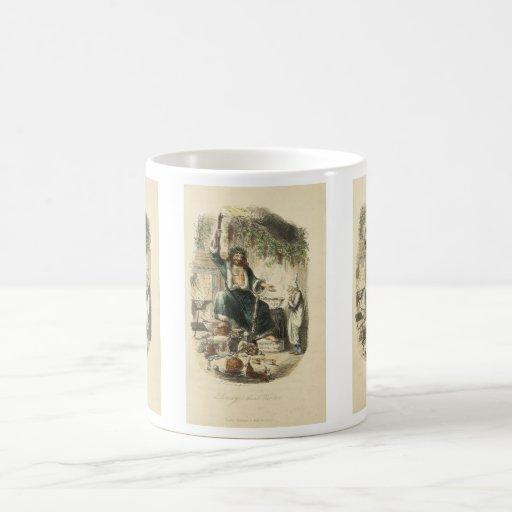 Fantasma del regalo de Navidad Taza De Café