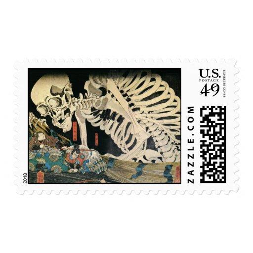 Fantasma del samurai y del esqueleto sello