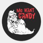 Fantasma divertido de Halloween Etiquetas Redondas