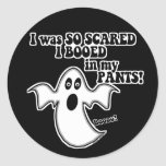 Fantasma divertido de Halloween Pegatina Redonda