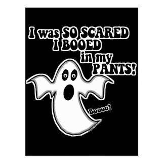 Fantasma divertido de Halloween Postal