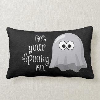 Fantasma divertido, lindo de Halloween; Consiga su Cojín
