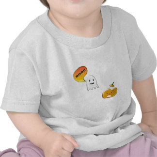 Fantasma divertido que asusta la Jack-O-Linterna Camisetas