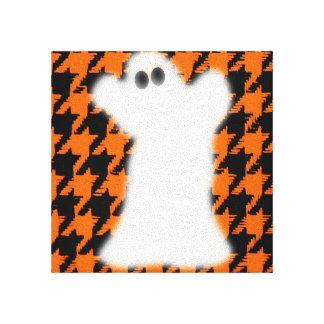 Fantasma el Halloween Houndstooth Impresiones En Lona