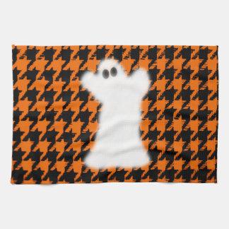 Fantasma el Halloween Houndstooth Toallas De Cocina