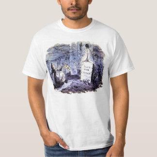 Fantasma en la camiseta del cementerio poleras