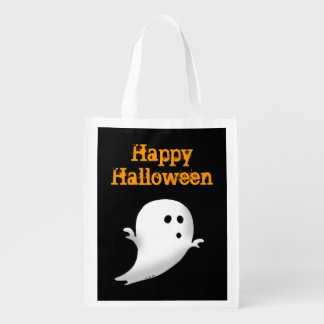 Fantasma fantasmagórico de Halloween - feliz Hallo Bolsa De La Compra